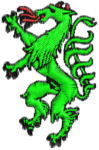 apfelgrün, vollflächig, schwarze Umrandung, Brustlogo